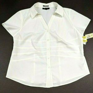 Style&co 18W Short Sleeve Stretch Blouse Shirt NWT